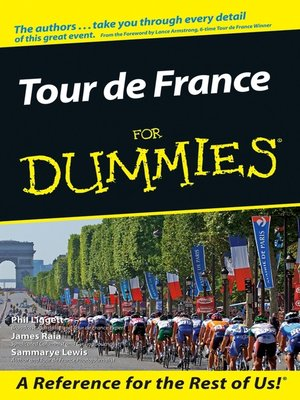 Click this cover for a(n) eBook sample of Tour De France For Dummies