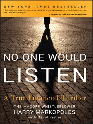 Click this cover for a(n) eBook sample of No One Would Listen.