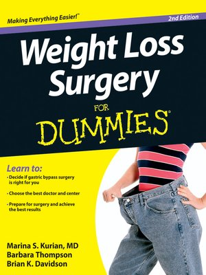 Cover of Weight Loss Surgery For Dummies