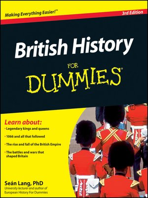 Click this cover for a(n) eBook sample of British History For Dummies