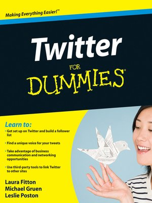 Click this cover for a(n) eBook sample of Twitter For Dummies.