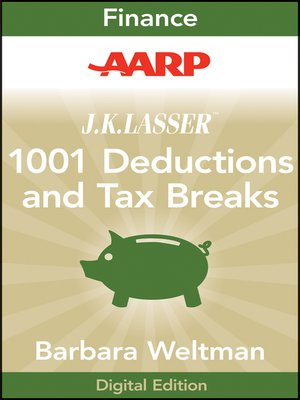 Click this cover for a(n) eBook sample of AARP J.K. Lasser's 1001 Deductions and Tax Breaks 2011