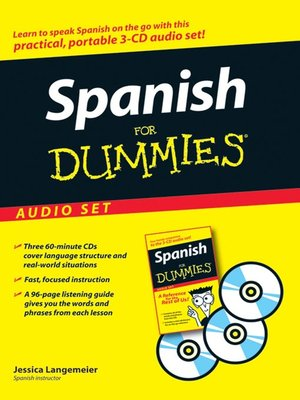 Click this cover for a(n) Audiobook sample of Spanish For Dummies.