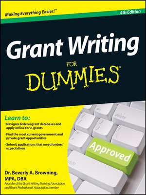 Cover of Grant Writing For Dummies