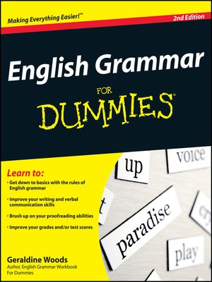 Click this cover for a(n) eBook sample of English Grammar For Dummies