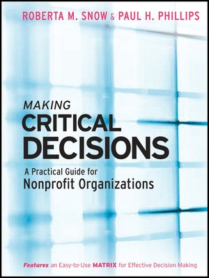 Click this cover for a(n) eBook sample of Making Critical Decisions.
