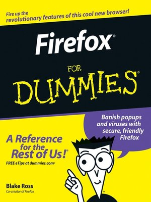 Click this cover for a(n) eBook sample of Firefox For Dummies.