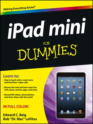 Click this cover for a(n) eBook sample of iPad mini For Dummies