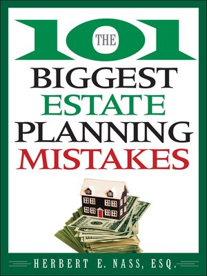 Click this cover for a(n) eBook sample of The 101 Biggest Estate Planning Mistakes.