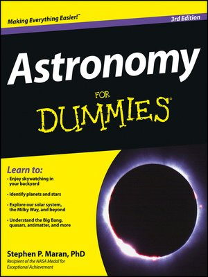 Click this cover for a(n) eBook sample of Astronomy For Dummies