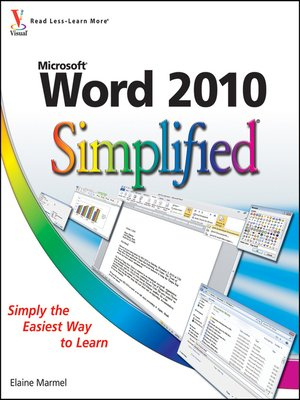 Click this cover for a(n) eBook sample of Word 2010 Simplified.