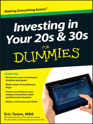 Cover of Investing in Your 20s & 30s For Dummies