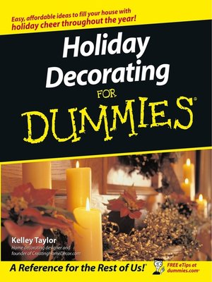 Click this cover for a(n) eBook sample of Holiday Decorating For Dummies.
