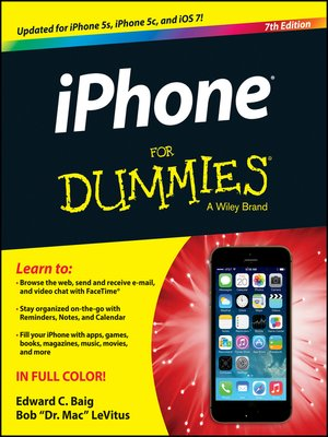 Click this cover for a(n) eBook sample of iPhone For Dummies.