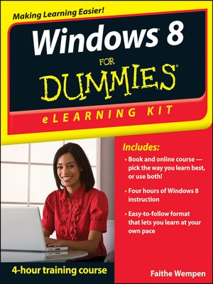 Cover of Windows 8 eLearning Kit For Dummies