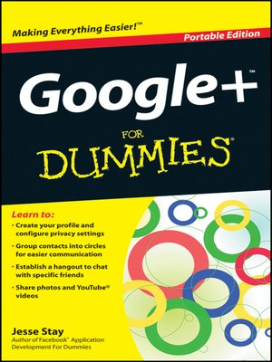 Click this cover for a(n) eBook sample of Google+ For Dummies.