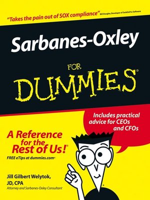 Click this cover for a(n) eBook sample of Sarbanes-Oxley For Dummies.