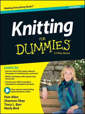 Click this cover for a(n) eBook sample of Knitting For Dummies