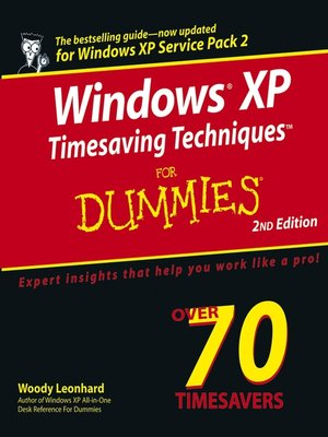 Click this cover for a(n) eBook sample of Windows XP Timesaving Techniques For Dummies