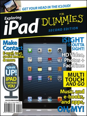 Click this cover for a(n) eBook sample of Exploring iPad For Dummies.
