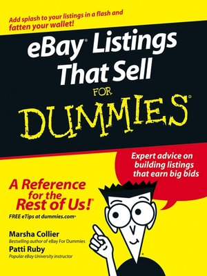 Click this cover for a(n) eBook sample of eBay Listings That Sell For Dummies.
