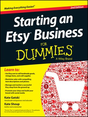 Click this cover for a(n) eBook sample of Starting an Etsy Business For Dummies.