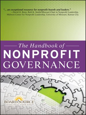 Click this cover for a(n) eBook sample of The Handbook of Nonprofit Governance.