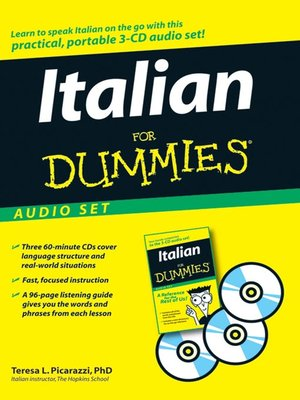Click this cover for a(n) Audiobook sample of Italian For Dummies.
