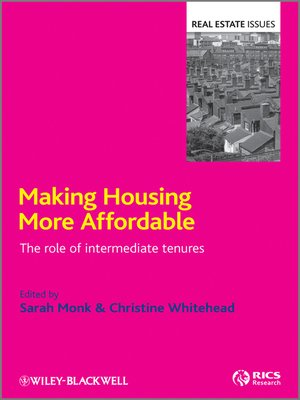 Cover of Making Housing more Affordable