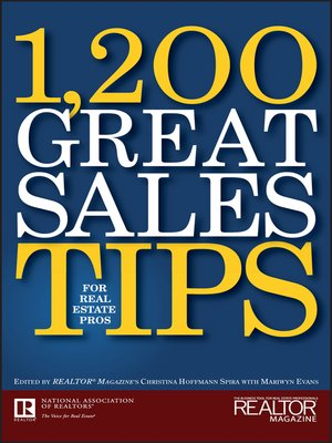 Cover of 1,200 Great Sales Tips for Real Estate Pros