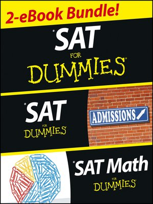 Click this cover for a(n) eBook sample of SAT For Dummies, Two eBook Bundle