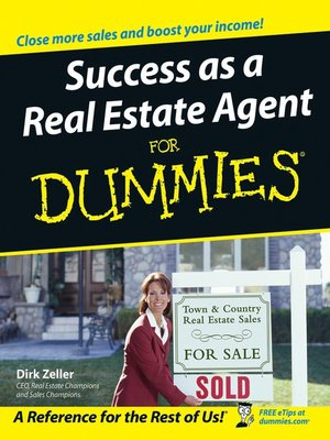 Click this cover for a(n) eBook sample of Success as a Real Estate Agent For Dummies