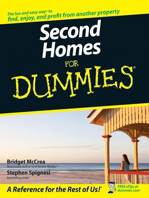 Click this cover for a(n) eBook sample of Second Homes for Dummies