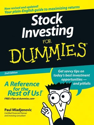 Click this cover for a(n) eBook sample of Stock Investing For Dummies.