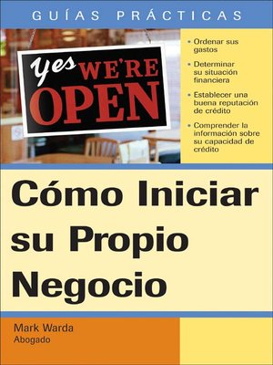 Click this cover for a(n) eBook sample of Cómo Iniciar su propio Negocio.