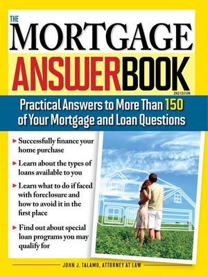 Click this cover for a(n) eBook sample of The Mortgage Answer Book.