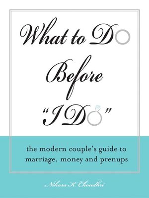 "Click this cover for a(n) eBook sample of What to Do Before ""I Do""."