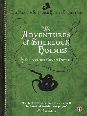 Click this cover for a(n) eBook sample of The Adventures of Sherlock Holmes.