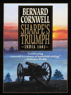 Click this cover for a(n) eBook sample of Sharpe's Triumph.