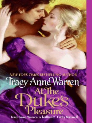 Click this cover for a(n) eBook sample of At the Duke's Pleasure.