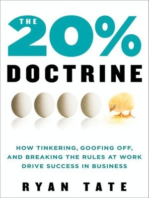 Click this cover for a(n) eBook sample of The 20% Doctrine