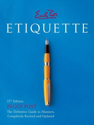 Click this cover for a(n) eBook sample of Emily Post's Etiquette.