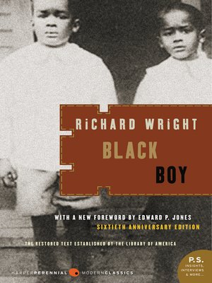 Click this cover for a(n) eBook sample of Black Boy.
