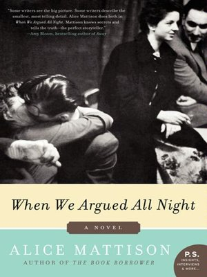 Click this cover for a(n) eBook sample of When We Argued All Night