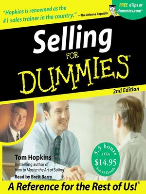 Click this cover for a(n) Audiobook sample of Selling for Dummies®.