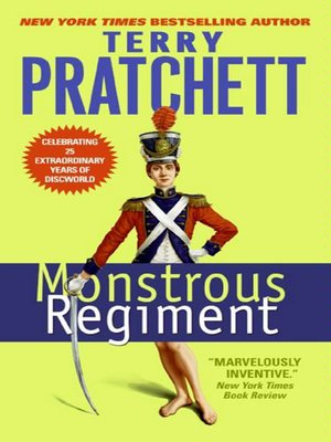 Click this cover for a(n) eBook sample of Monstrous Regiment.