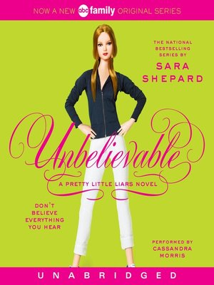 Click this cover for a(n) Audiobook sample of Unbelievable.