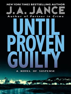 Click this cover for a(n) eBook sample of Until Proven Guilty.