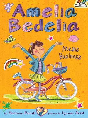 Click this cover for a(n) eBook sample of Amelia Bedelia Means Business.