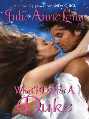 Click this cover for a(n) eBook sample of What I Did For a Duke.